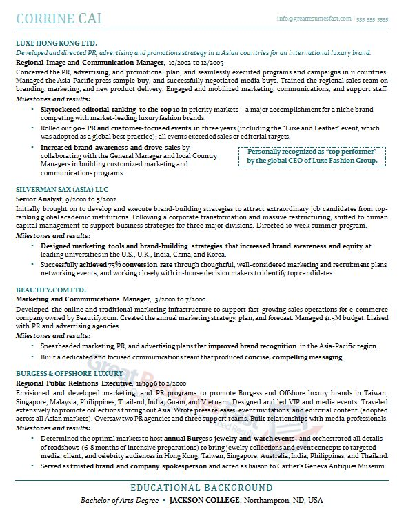 Opulent Design Great Resumes Fast 5 Executive Resume Samples ...