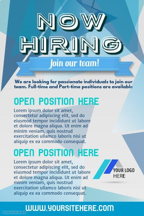 Hiring Poster Template | PosterMyWall