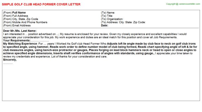 Club Promoter Cover Letters