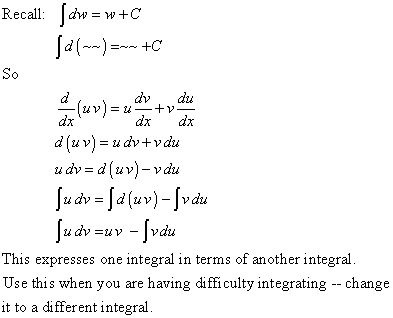 Lesson #119 Integration By Parts
