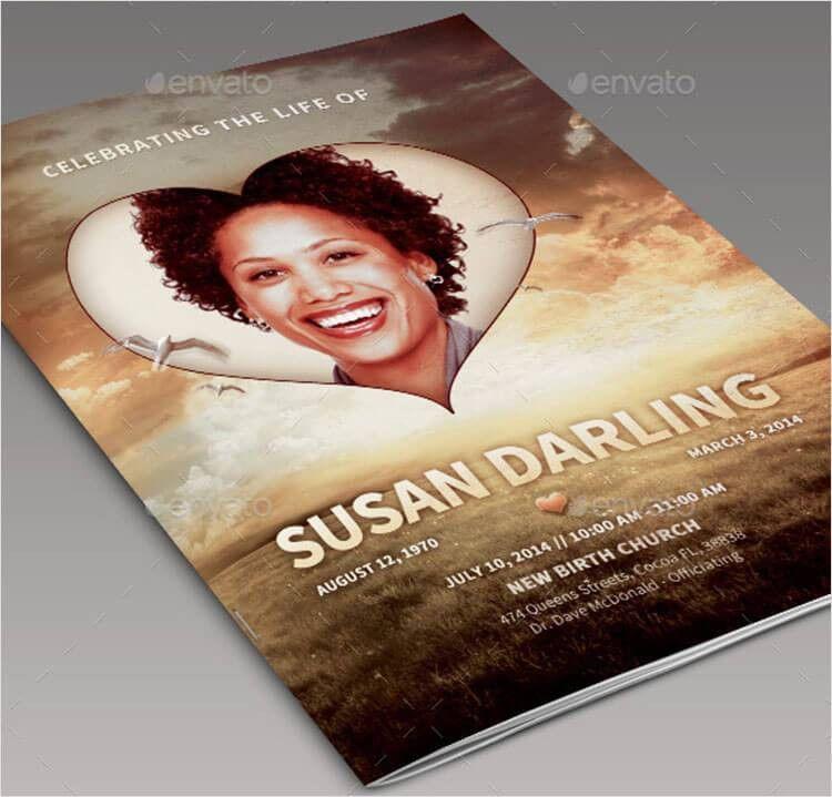 Funeral Brochure Templates - Free PSD Templates | Creative Template