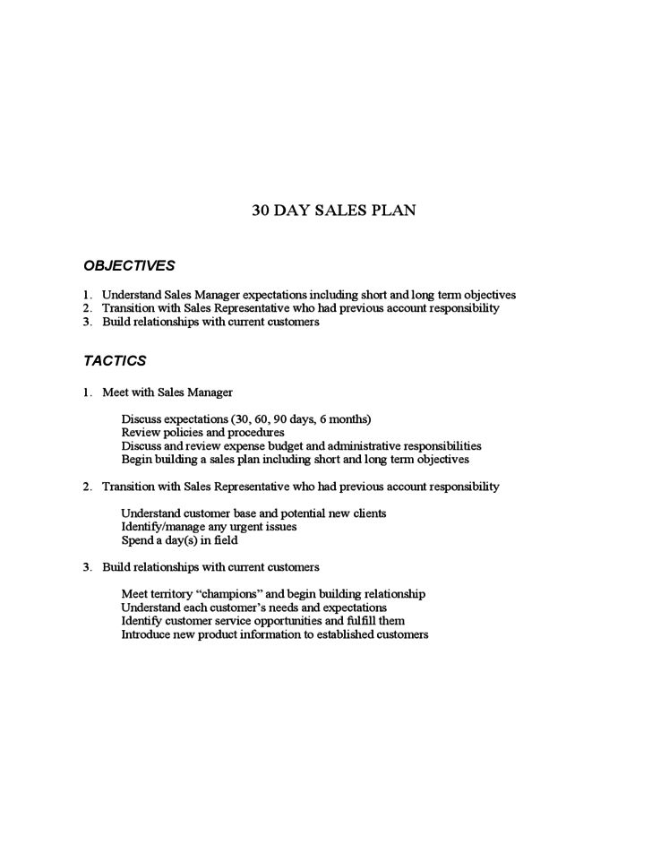 Sample Medical Device 30-60-90 Day Plan Free Download