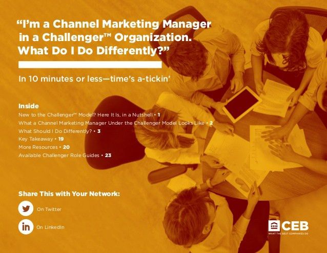 Challenger™ Channel Marketer Role Guide