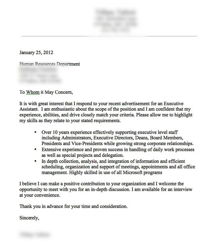 very good cover letter example Resume tips Pinterest inside ...