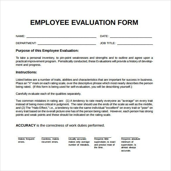 sample appraisal form template