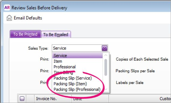 Packing slips and delivery dockets - MYOB AccountRight - MYOB Help ...
