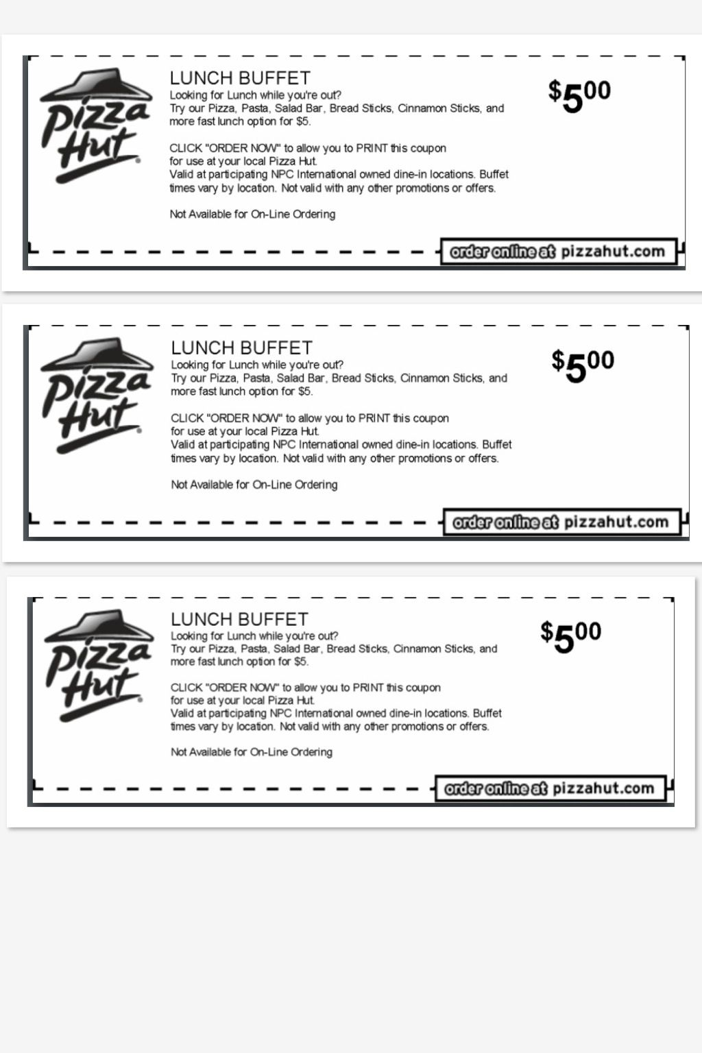 All You Can Eat Lunch Buffet  Pizza Hut Get Unlimited Pizza
