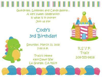 Fearsome Kids Birthday Party Invitation | THERUNTIME.COM