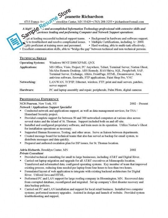 The Stylish Application Support Resume Sample | Resume Format Web