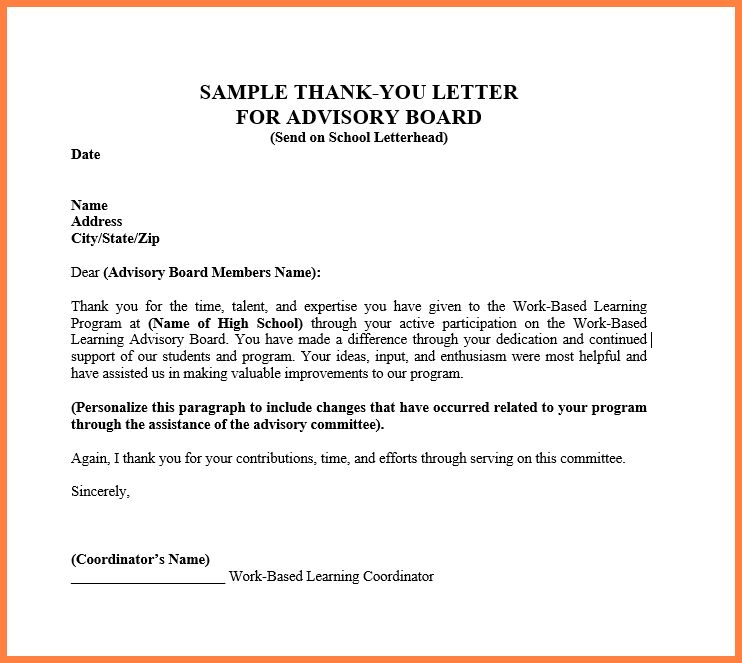 11+ scholarship donation thank you letter | Sales intro letter