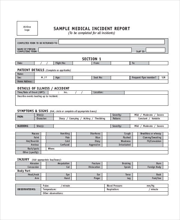 Sample Incident Report - 7+ Documents in PDF