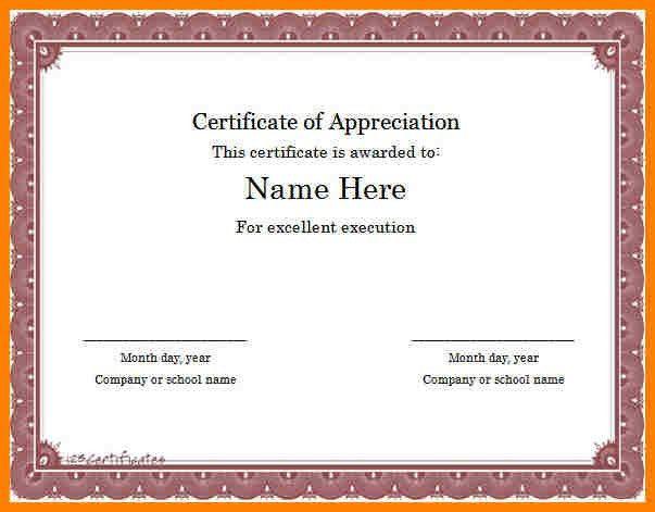 7+ certificate of appreciation word template | farmer resume