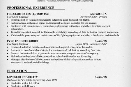 certified fire protection engineer sample resume 19 fire ...