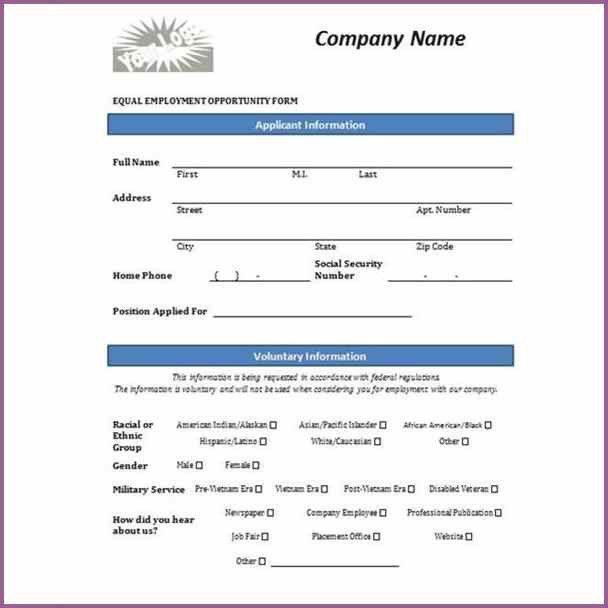 JOB APPLICATION FORM TEMPLATE | designproposalexample.com