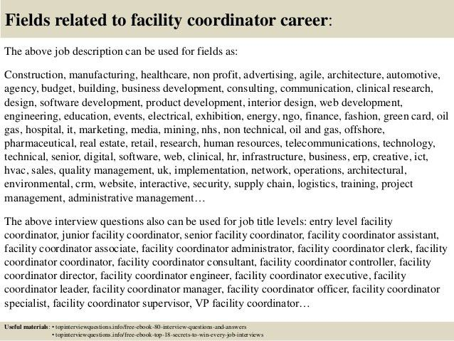 Facility coordinator jobs top 10 facility coordinator interview top 10 facility coordinator interview questions and answers pronofoot35fo Choice Image