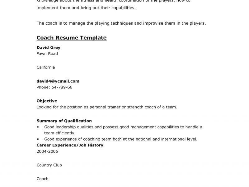 Charming Idea Sports Resume 15 Athletic Coach Resume - Resume Example