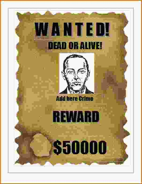 7+ wanted poster template microsoft word | Authorizationletters.org