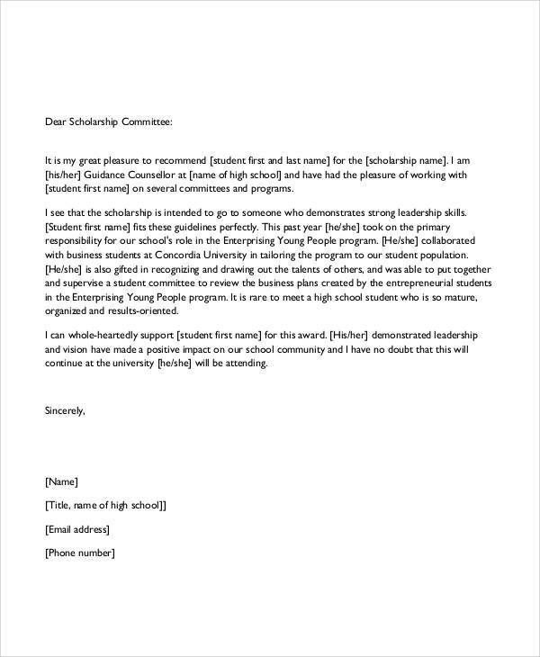 37 Sample Recommendation Letters in PDF
