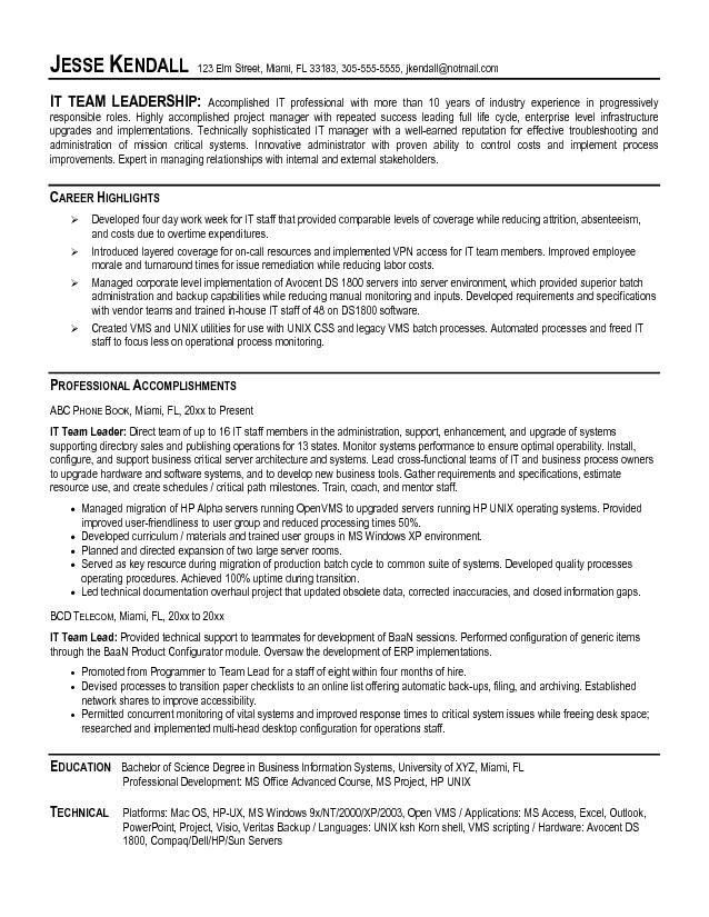 Valuable Design Ideas Leadership Resume Examples 3 Resume ...
