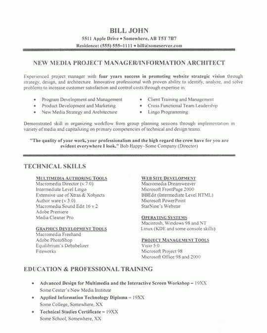 Examples Of Project Management Resumes. Stem Project Coordinator ...