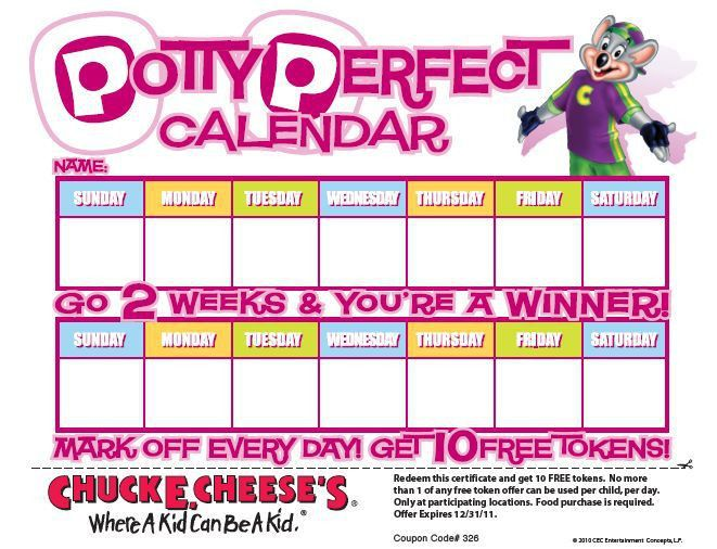 FREE Rewards Calendars from Chuck E Cheese... - SheSaved®