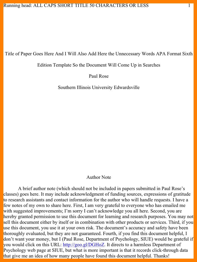 apa style paper 6th edition template