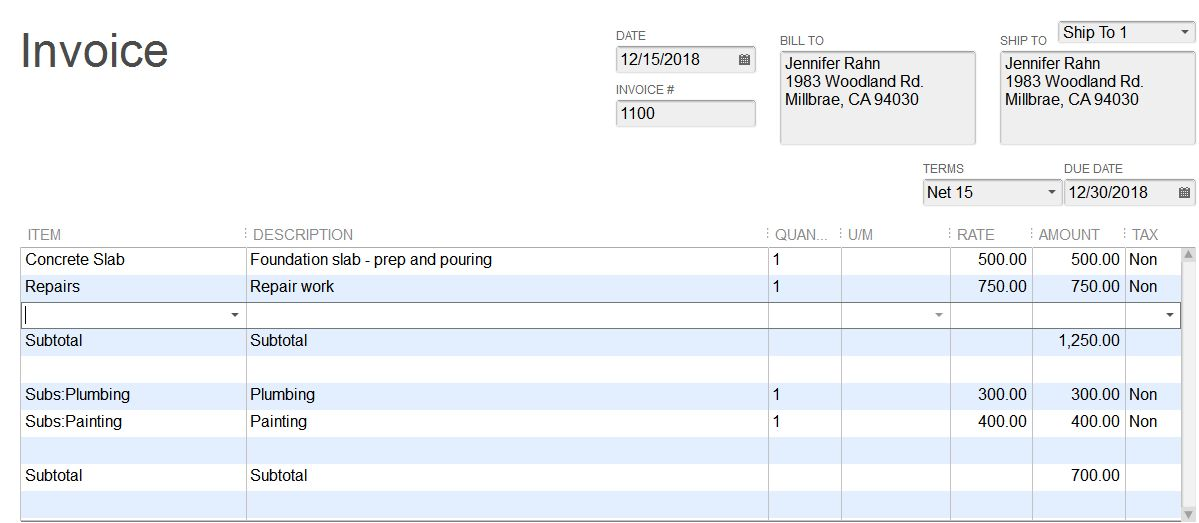 Adding a Subtotal to QuickBooks Invoices, Sales Orders, Estimates ...