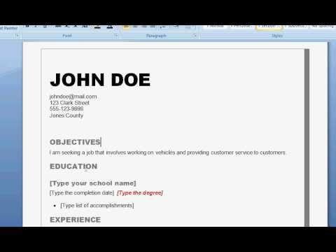 write up a resume how to write up a resume