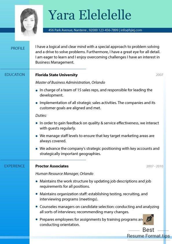 2016 new resume format