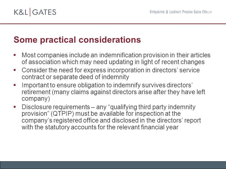 Directors' Liabilities, Indemnities and D&O Insurance - ppt download