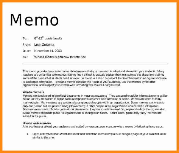 Professional Memo Format Template   Samples.csat.co