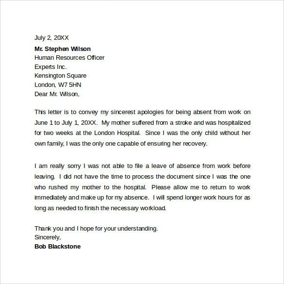 Sample Professional Apology Letter   10+ Download Free Documents .
