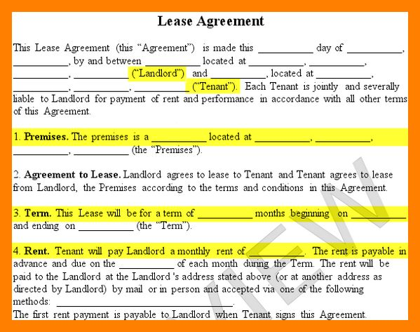 7+ lease contract sample | resume sections