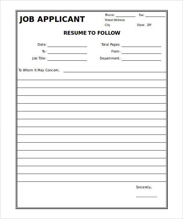 Generic Fax Cover Sheet – 10+ Free Word, PDF Documents Download ...