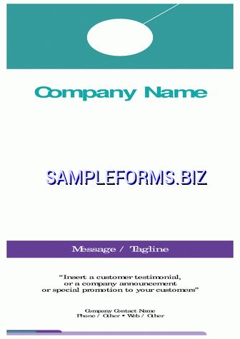 Retail and Consumer Door Hanger Template & samples forms