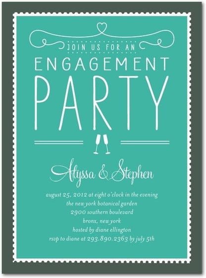 Engagement Party Invites - iidaemilia.Com