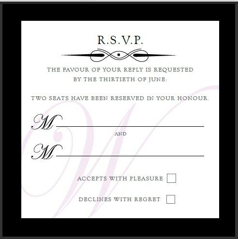 Wedding Invitation Rsvp Wording | THERUNTIME.COM