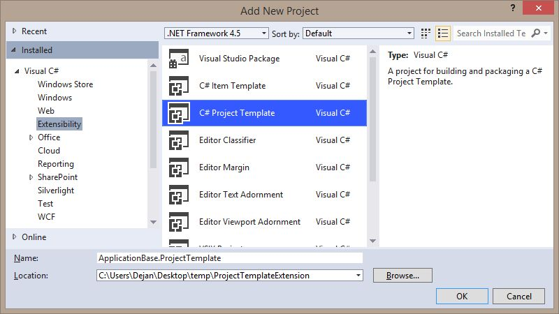 Creating Visual Studio ProjectTemplate VSIX package | February ...