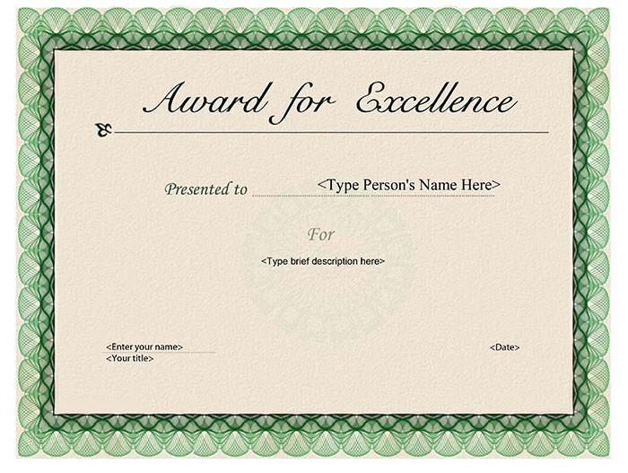 30 Printable Award Templates   Certificate Templates