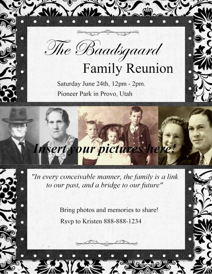 148 best Family Reunion Information images on Pinterest | Family ...