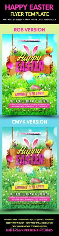 Celebrate Easter with us through these #Easter party flyer ...