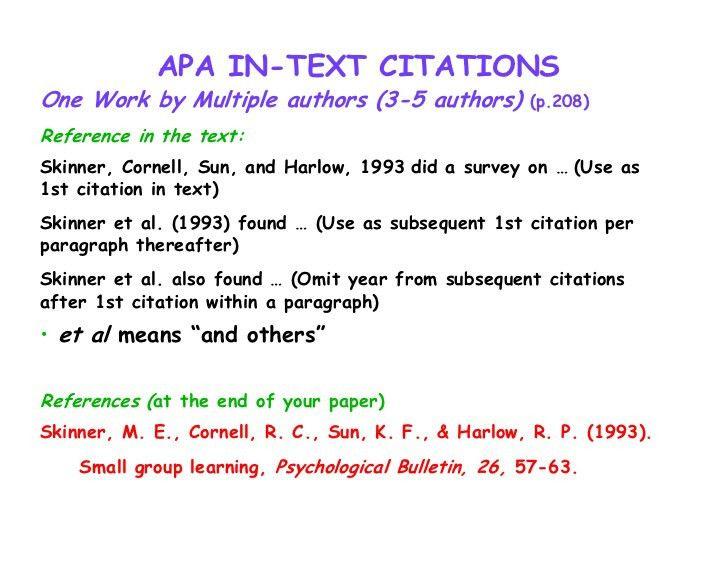 Apa Format Citation Multiple Authors - Shishita-world.com