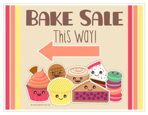 Bake sale printables...sweet! Save now for when you have a bake ...