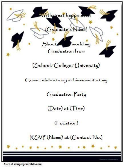 Graduation Invitation Templates Microsoft Word | Best Template ...