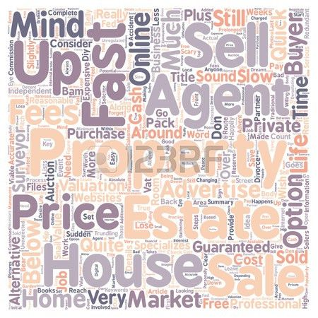 Sell My House Fast Text Background Wordcloud Concept Royalty Free ...