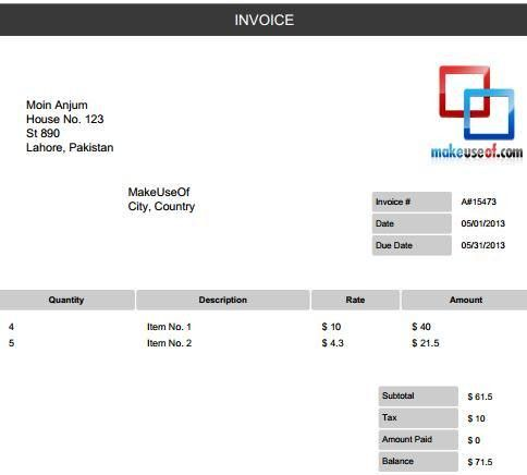 Download Invoice Template Generator | rabitah.net