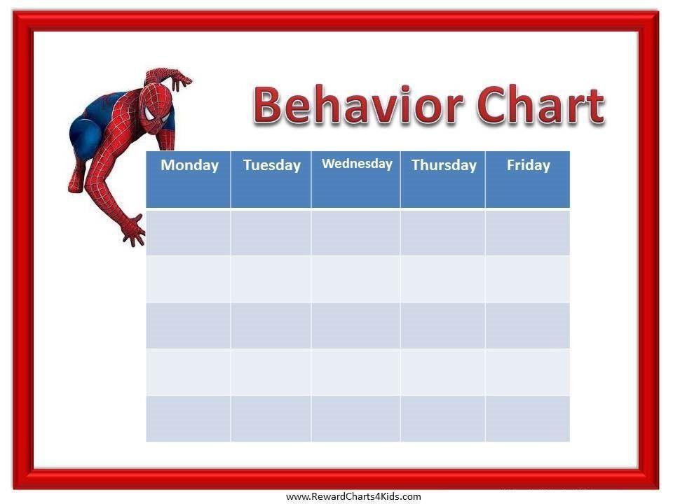 Sample Chart Templates » Kids Behavior Chart Template - Free ...