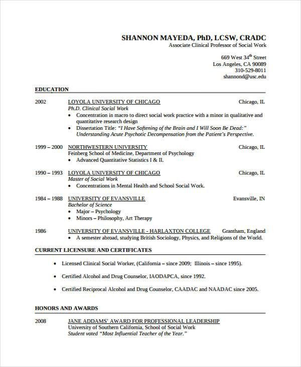 Usc Resume Template Usc Resume Template 29 Simple Work Resume