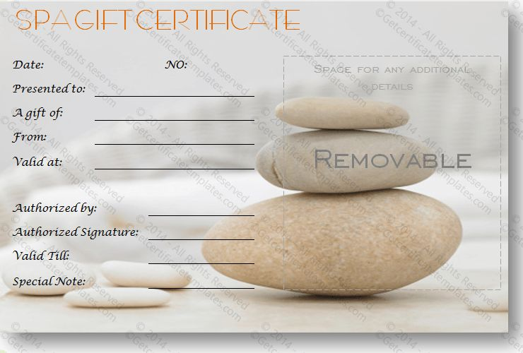 Spa Gift Certificates - 101 Gift Certificate Templates | massage ...