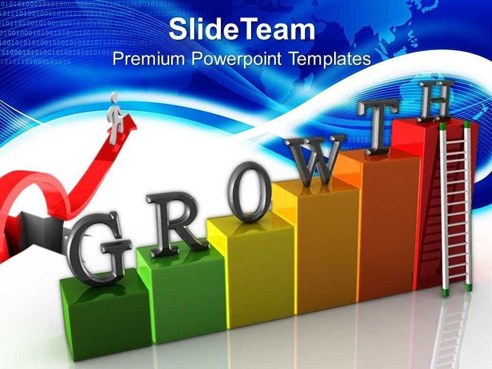 Growth graphs in business powerpoint templates stairs success ...